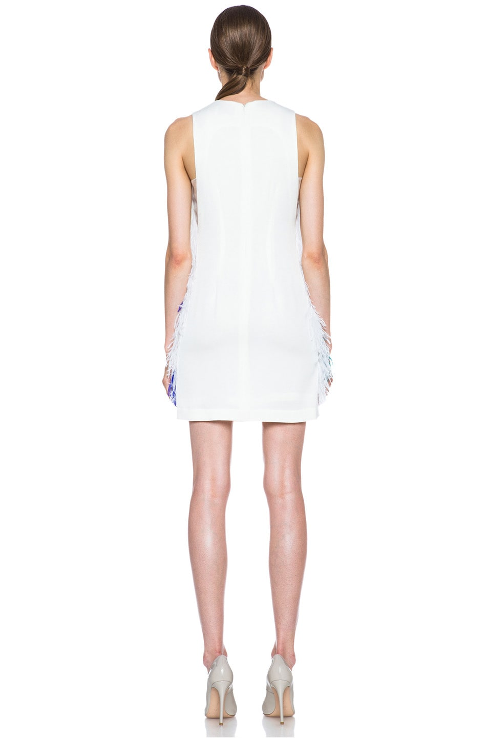 Image 4 of 3.1 phillip lim Plume Acetate-Blend Shift Dress in Ivory