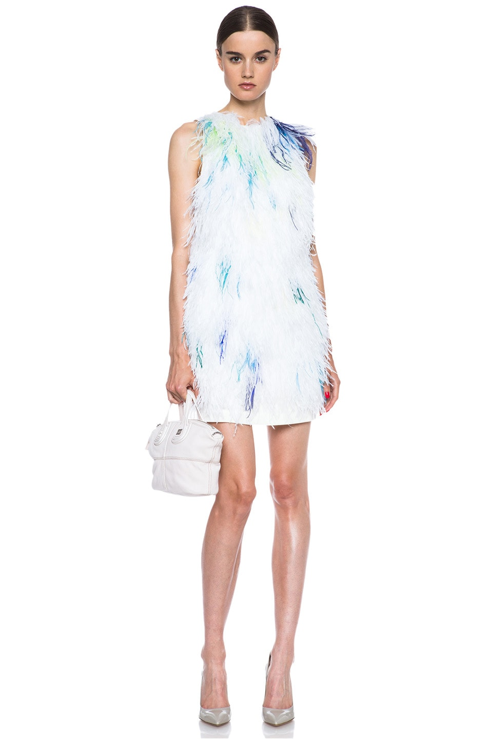 Image 5 of 3.1 phillip lim Plume Acetate-Blend Shift Dress in Ivory