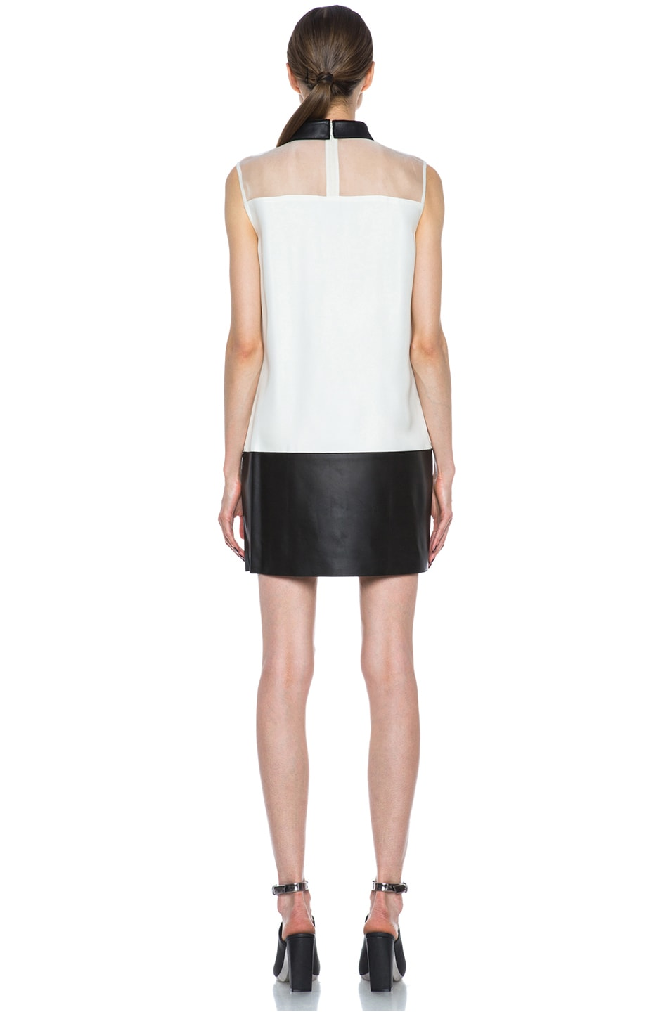 Image 4 of 3.1 phillip lim Tuxedo Viscose Shift Dress in Alabaster & Black