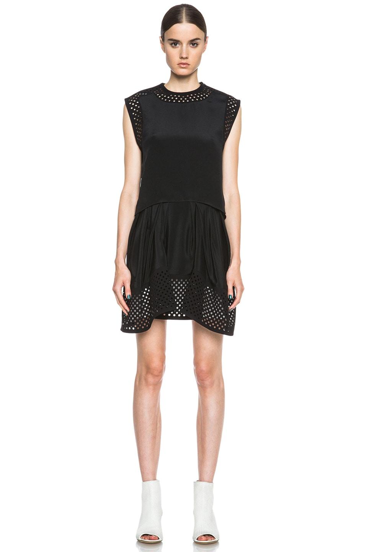 Image 1 Of 3 Phillip Lim Laser Cut Silk Dress In Black
