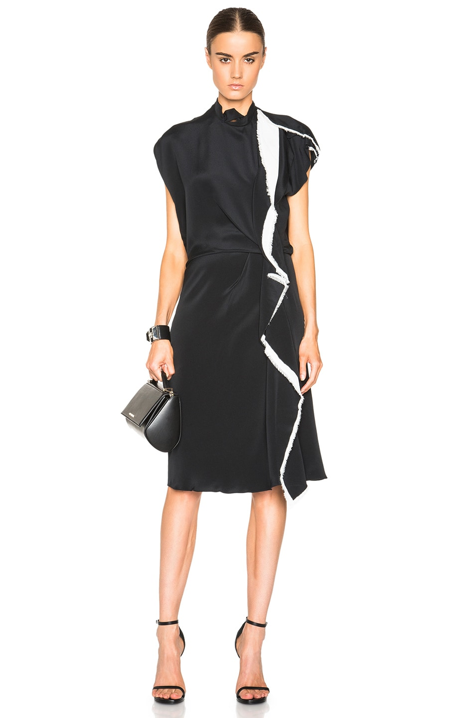 Image 1 Of 3 Phillip Lim Distorted Ruffle Dress In Black
