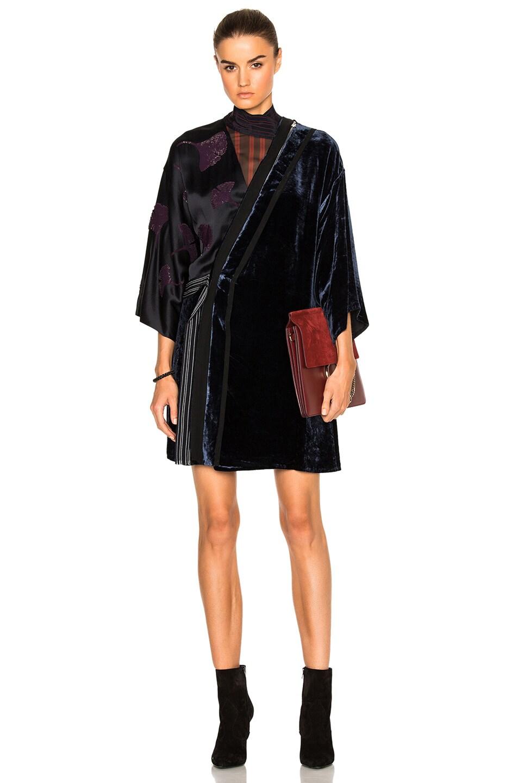 Image 1 of 3.1 phillip lim Kimono Velvet Combo Dress in Sapphire