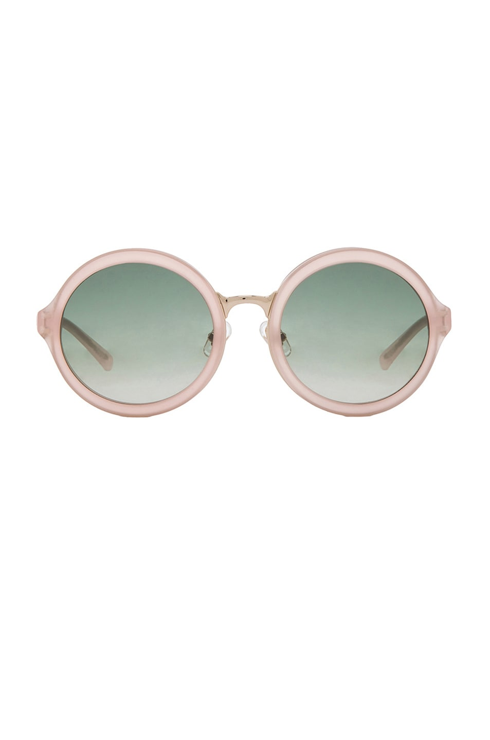Image 1 of 3.1 phillip lim Circle Sunglasses in Frosted Salmon