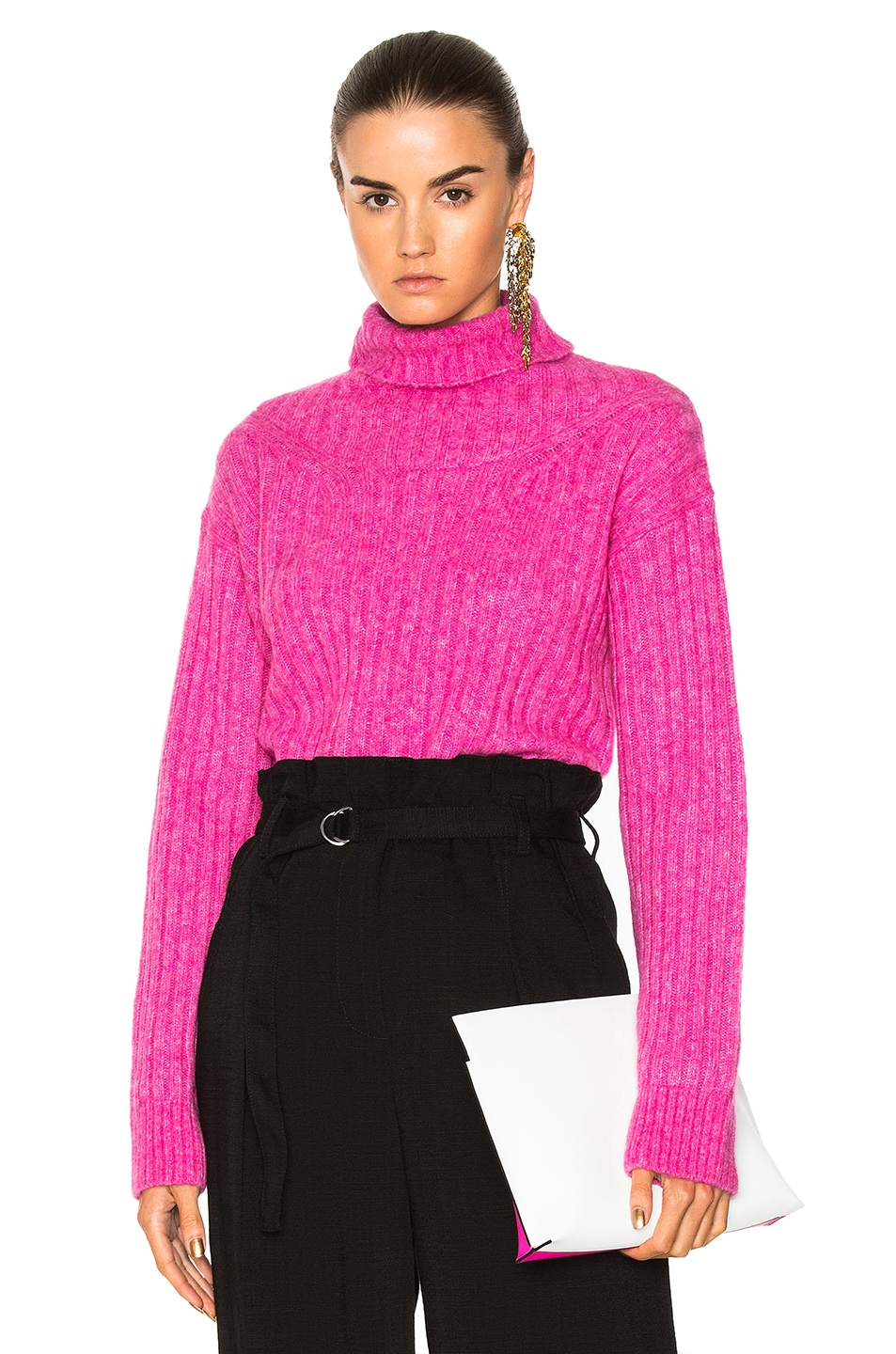 681922d0a2d1 3.1 phillip lim Rib Turtleneck Sweater in Candy Pink