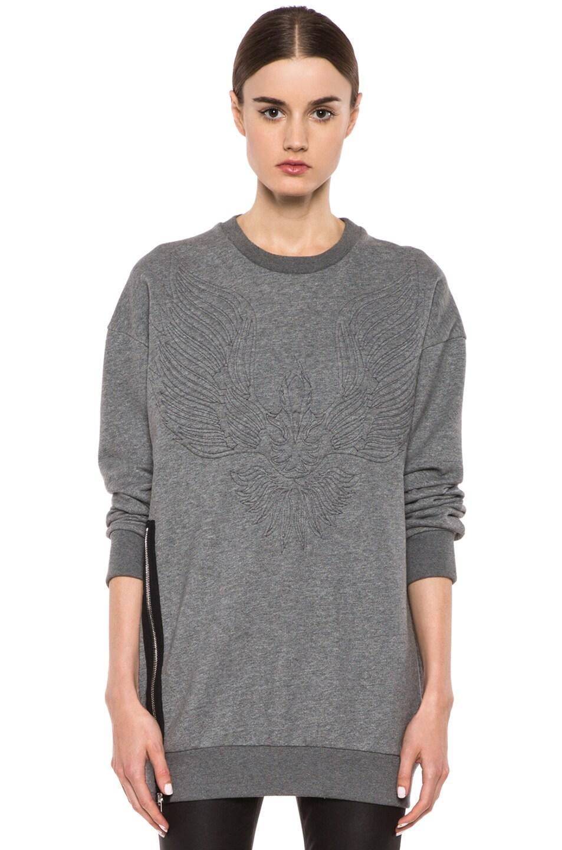 Image 1 of 3.1 phillip lim Quilted Phoenix Cotton Sweatshirt in Grey Melange