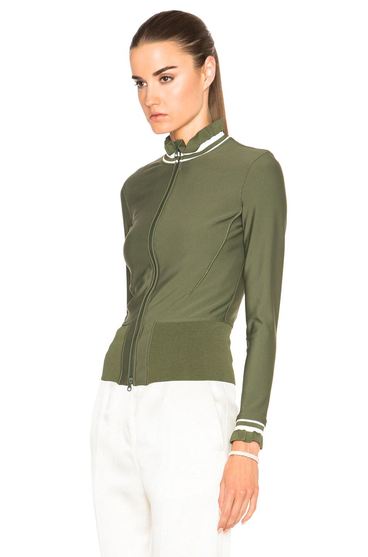 Image 3 of 3.1 phillip lim Zigzag Finish Wetsuit Jacket in Agave
