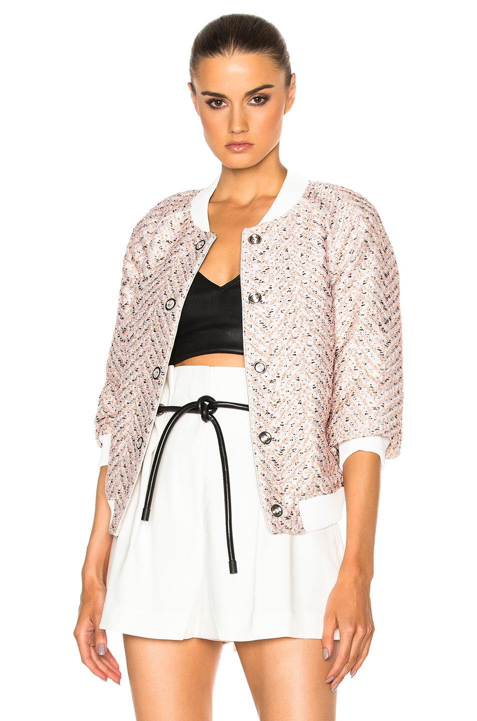Image 1 of 3.1 phillip lim Bomber in Alabaster