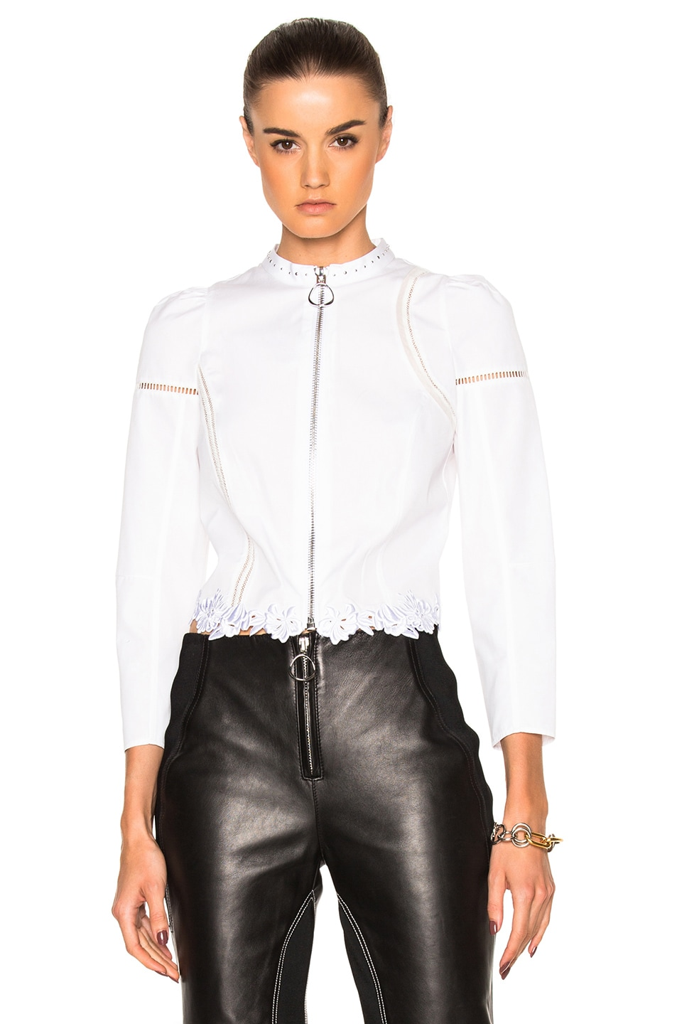 Image 1 of 3.1 phillip lim Poplin Victoriana Shirt Jacket in White