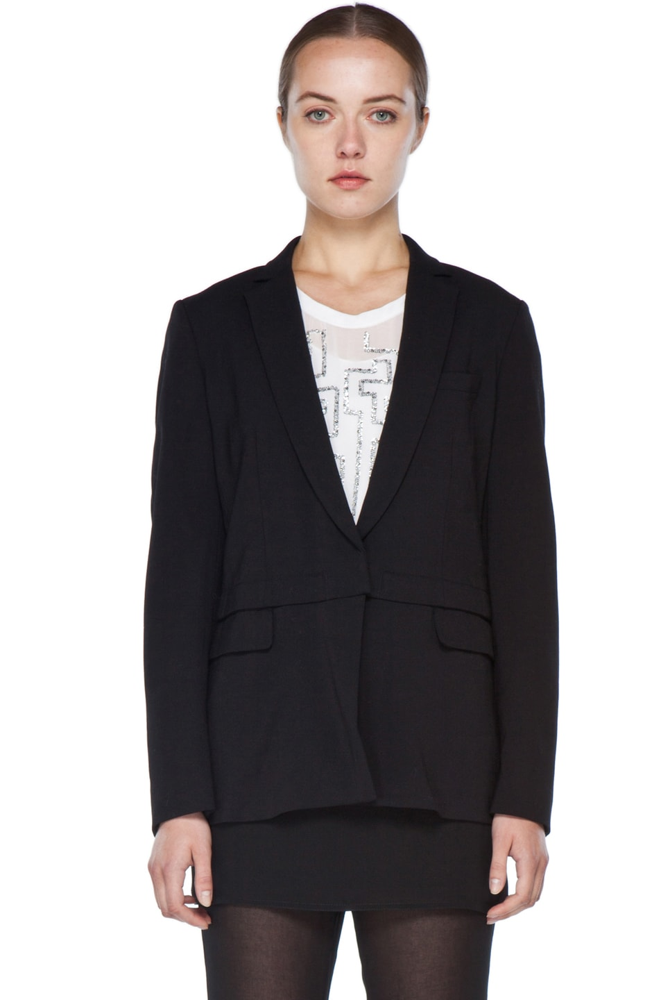 Image 2 of 3.1 phillip lim Blazer with Detachable Lower Panel in Black