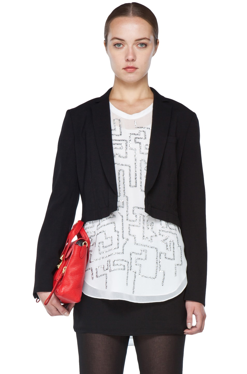 Image 4 of 3.1 phillip lim Blazer with Detachable Lower Panel in Black