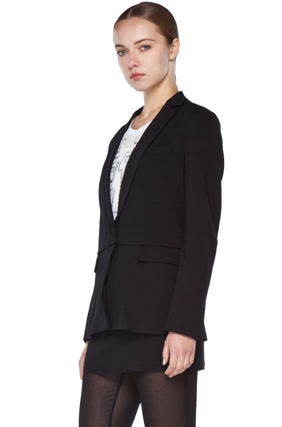 Image 5 of 3.1 phillip lim Blazer with Detachable Lower Panel in Black