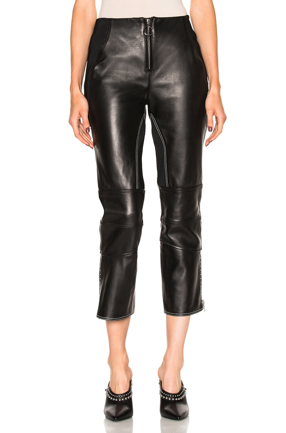 Image 1 of 3.1 phillip lim Leather Biker Pant in Black
