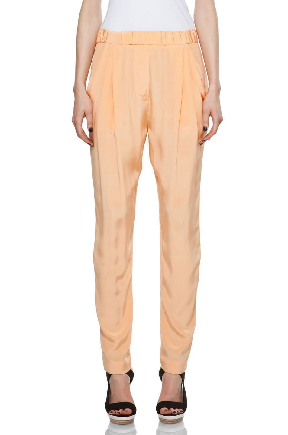 Image 1 of 3.1 phillip lim Draped Pocket Trouser in Faded Orange