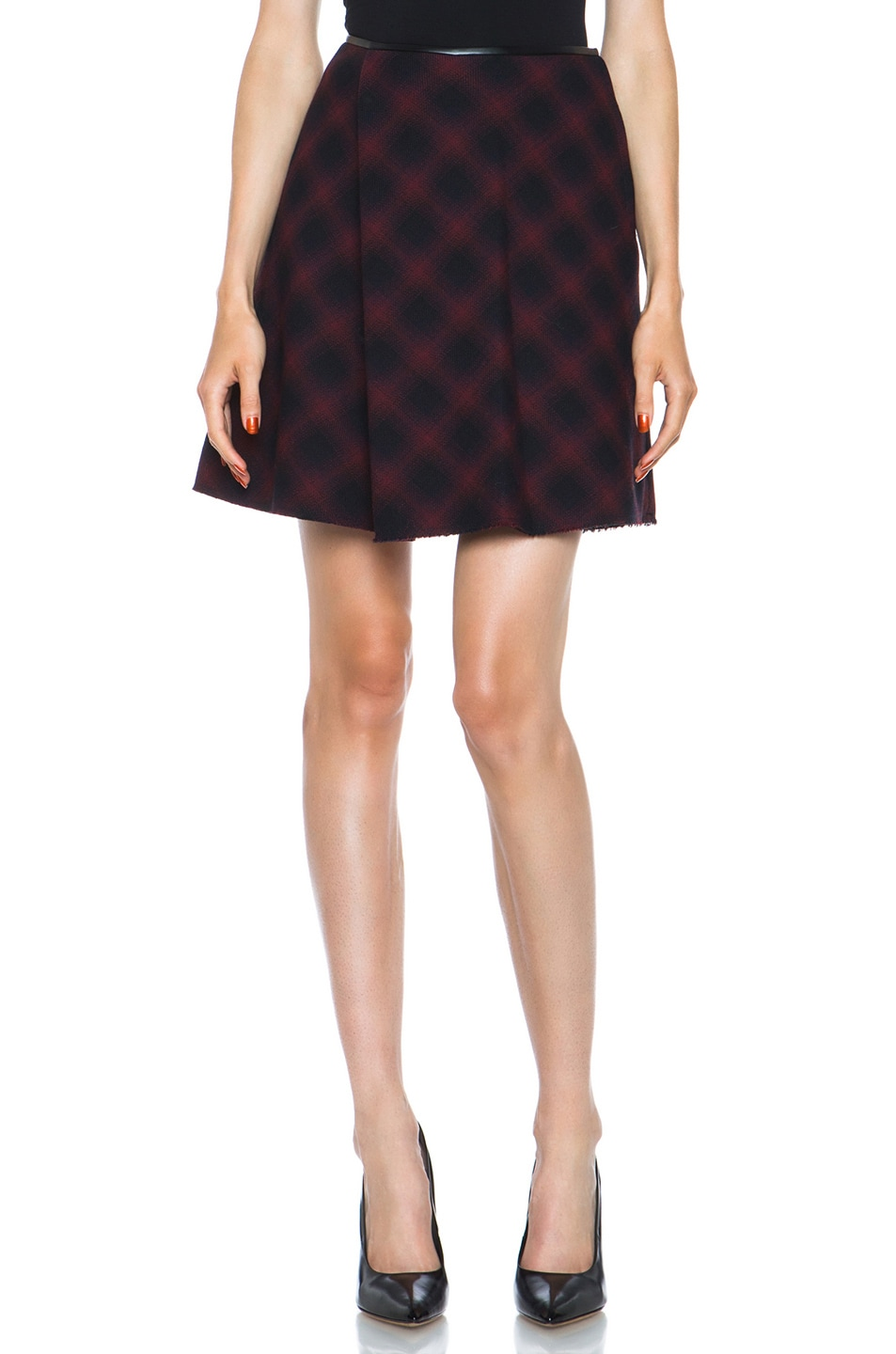 Image 1 of 3.1 phillip lim Sculpted Flare Wool-Blend Skirt in Navy Multi