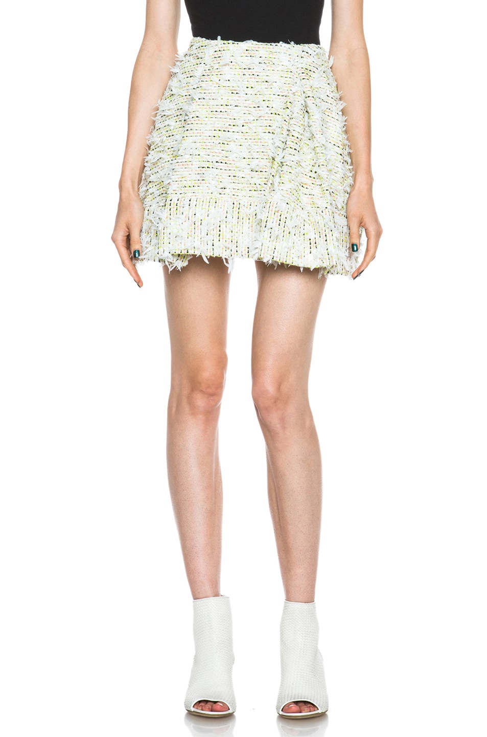 Image 1 of 3.1 phillip lim Pleated Cotton-Blend Skirt in Multi
