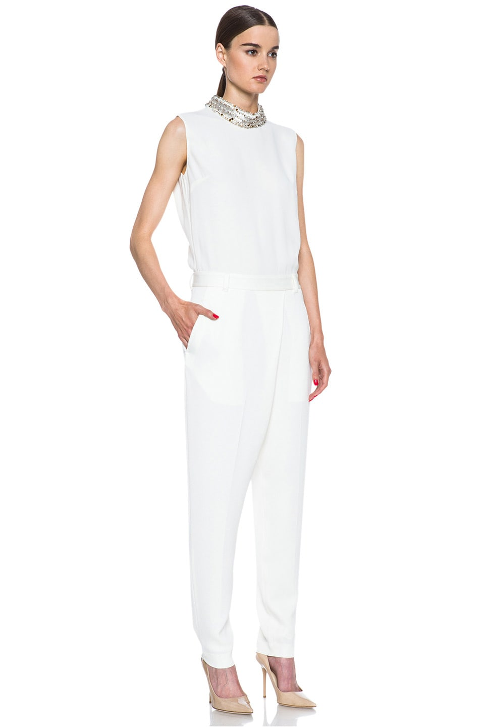 Image 3 of 3.1 phillip lim Acetate-Blend Jumpsuit in Ivory