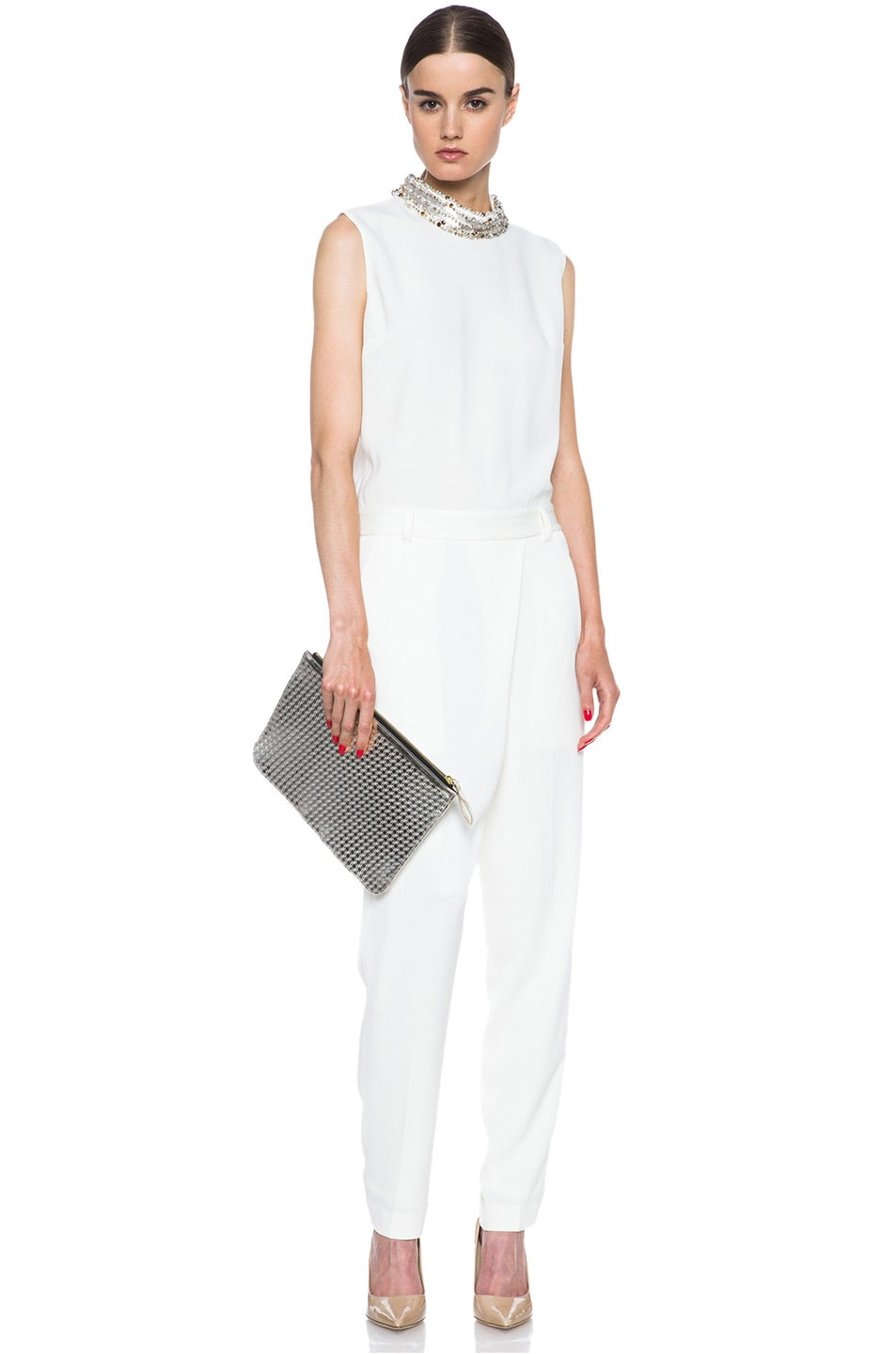 Image 5 of 3.1 phillip lim Acetate-Blend Jumpsuit in Ivory