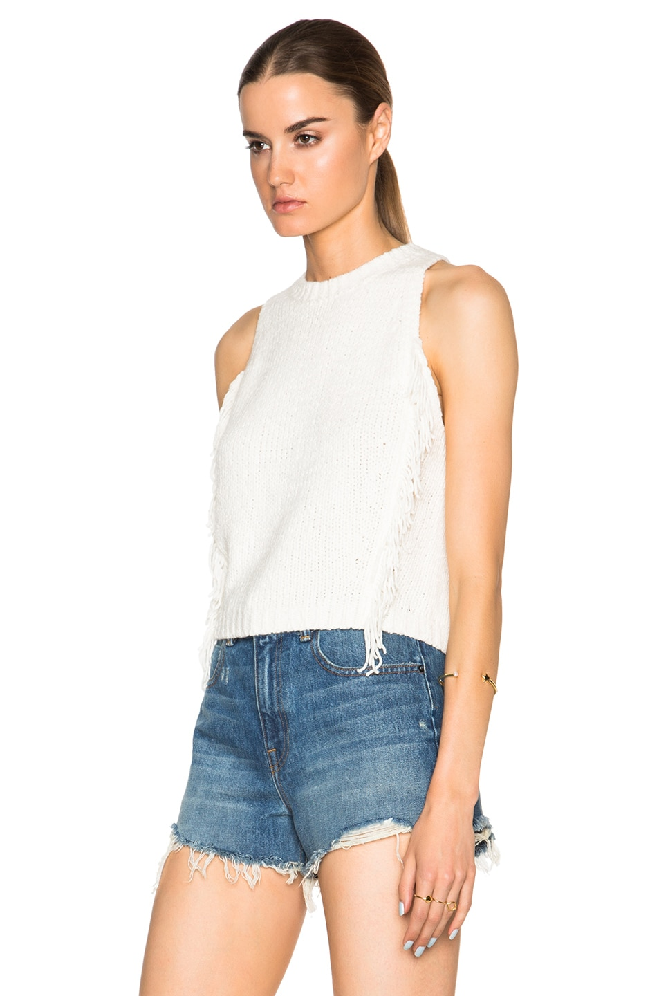 Image 2 of 3.1 phillip lim Fringe Crop Top in Ivory