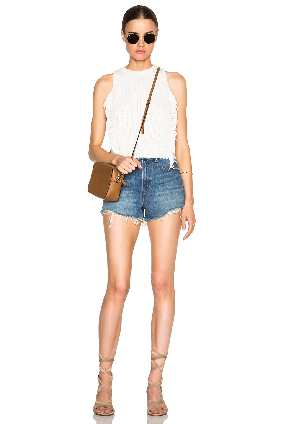 Image 5 of 3.1 phillip lim Fringe Crop Top in Ivory