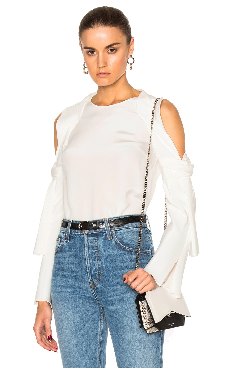 45a29d232f4a91 Image 1 of 3.1 phillip lim Cold Shoulder Top in Antique White
