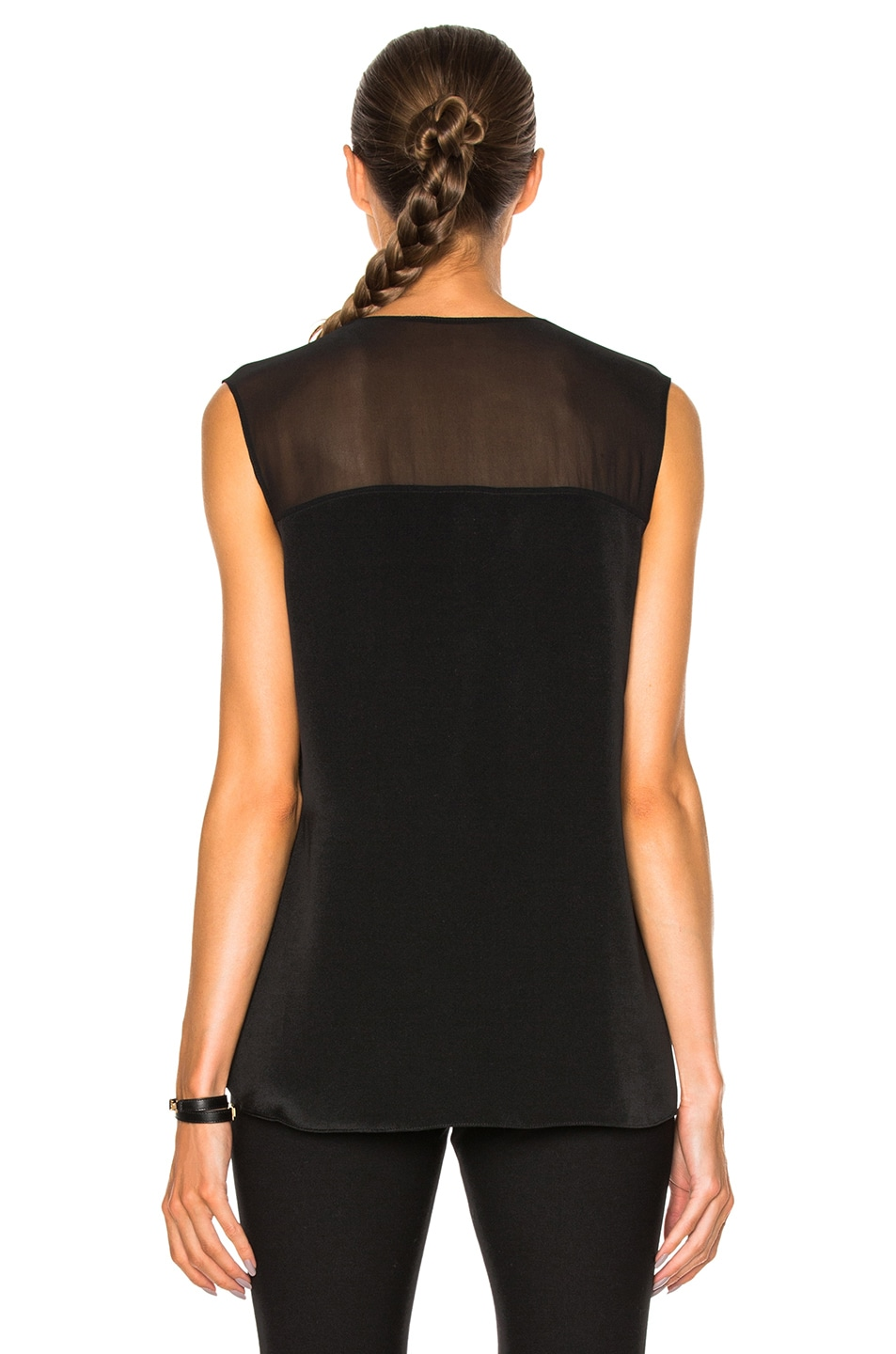 Image 4 of 3.1 phillip lim Sleeveless Front Knot Top in Black