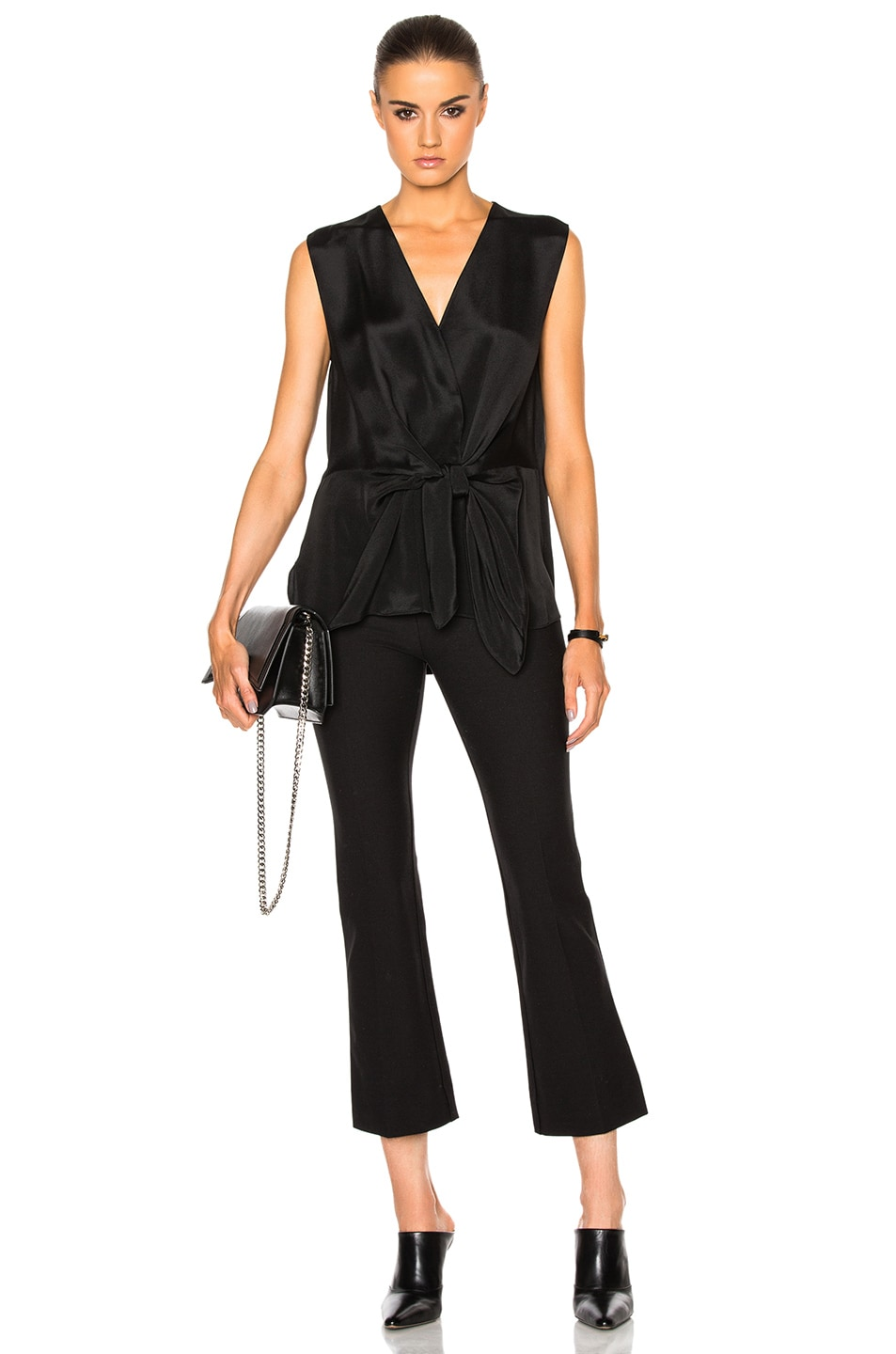 Image 5 of 3.1 phillip lim Sleeveless Front Knot Top in Black
