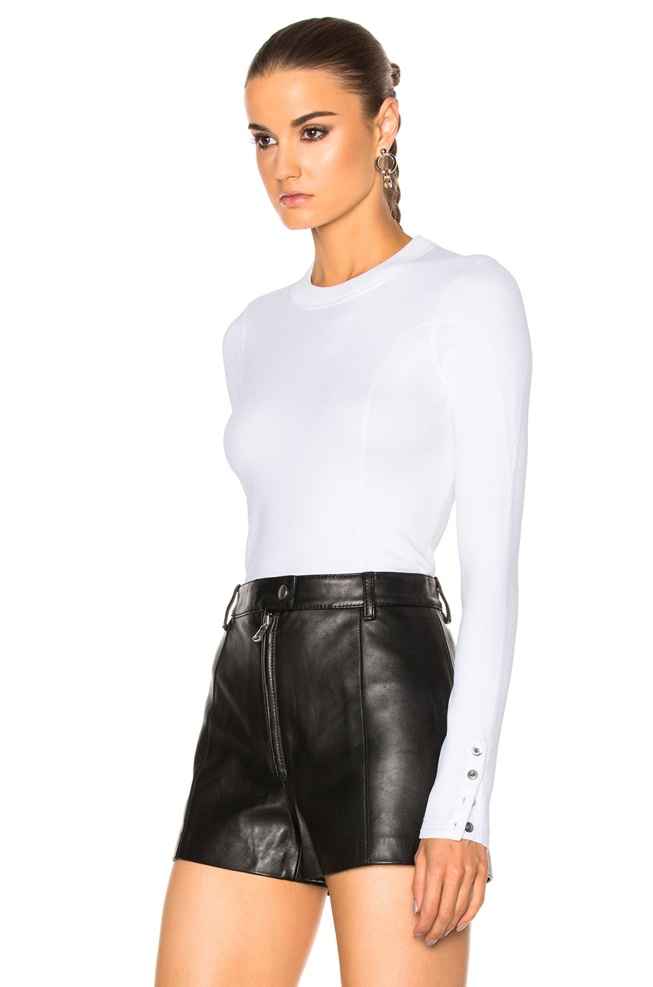 Image 2 of 3.1 phillip lim Military Rib Pullover in White