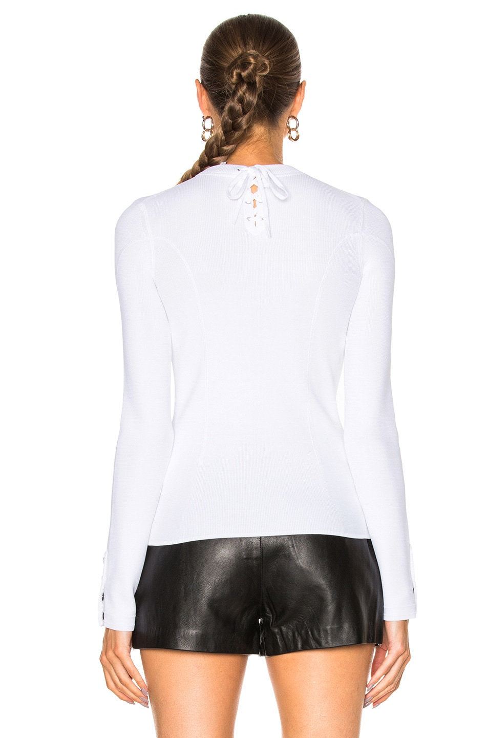 Image 4 of 3.1 phillip lim Military Rib Pullover in White