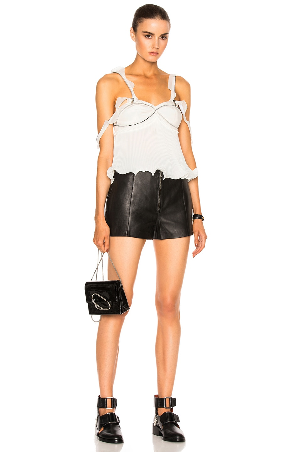 Image 6 of 3.1 phillip lim Sleeveless Pleated Ruffle Top in Antique White