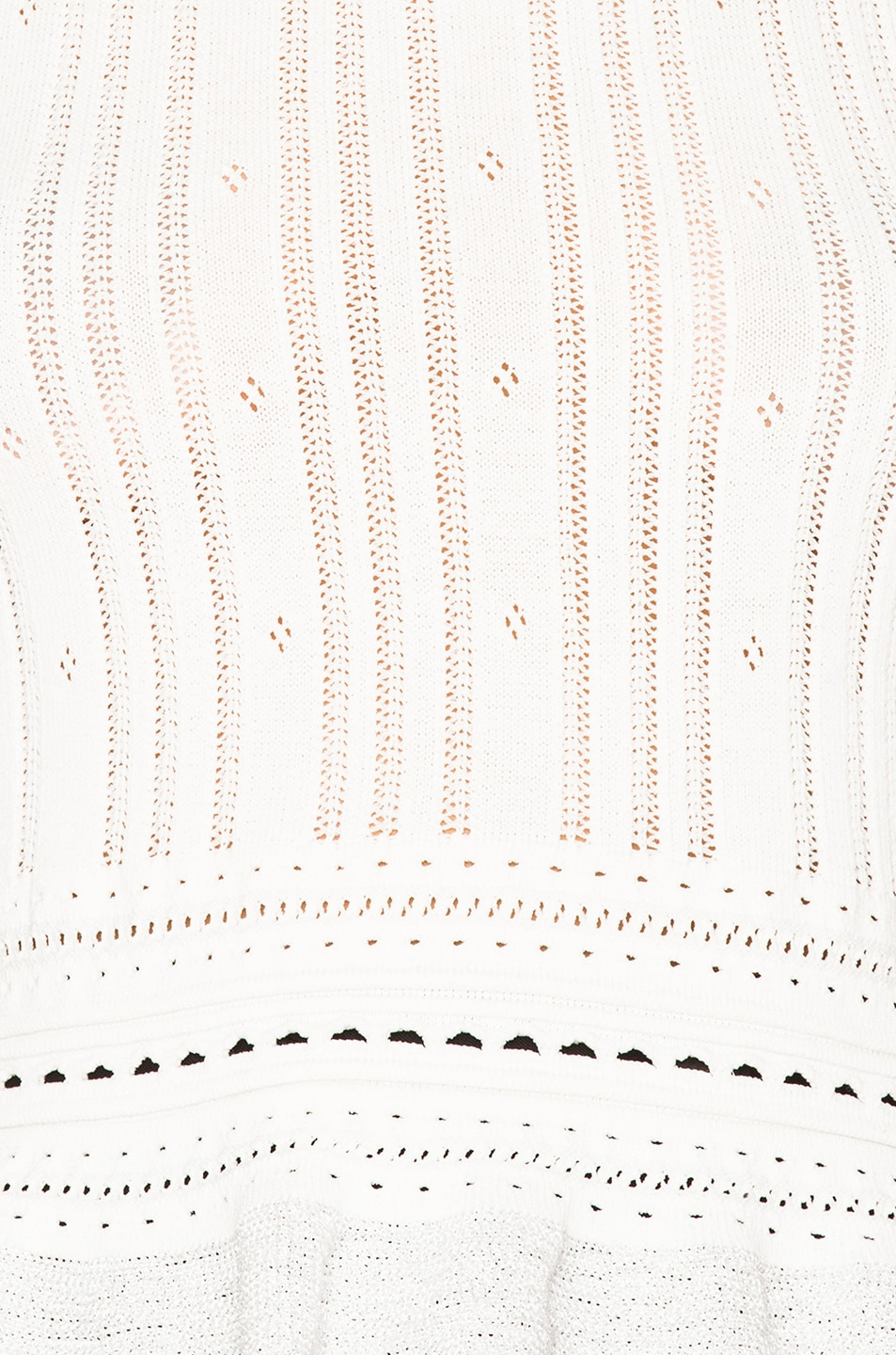 Image 6 of 3.1 phillip lim Compact Pointelle Lace Cropped Tank in Antique White