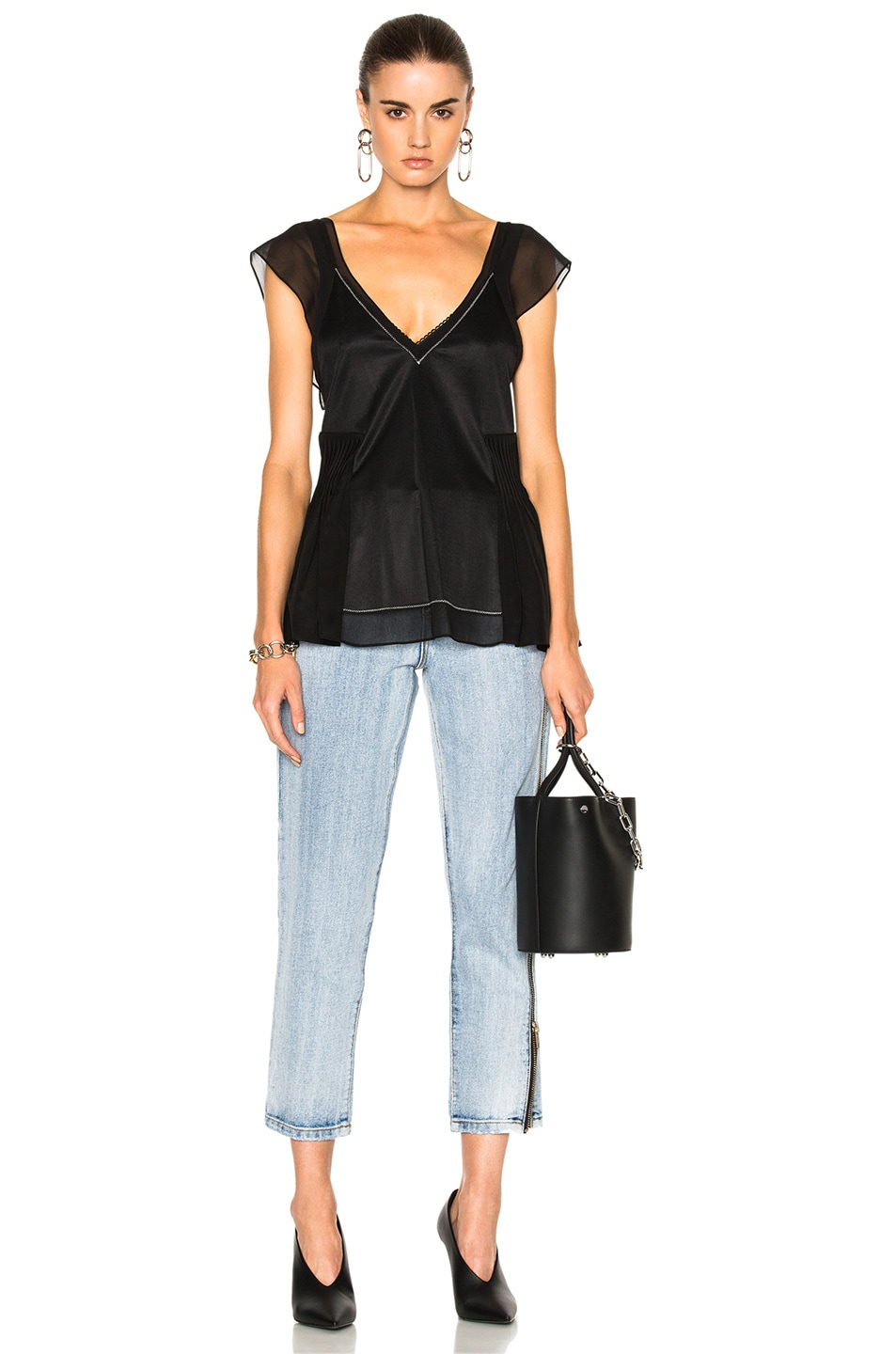 Image 5 of 3.1 phillip lim Flutter Top in Black