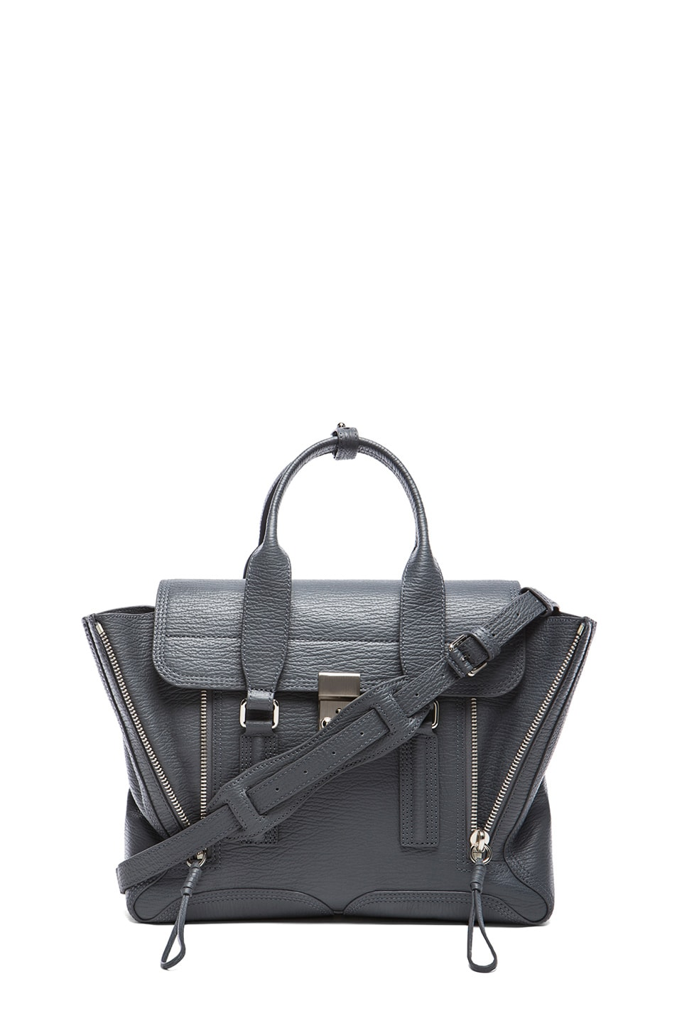Image 1 of 3.1 phillip lim Medium Pashli Trapeze in Storm & Nickel