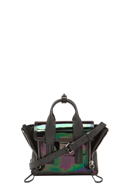 Image 1 of 3.1 phillip lim Mini Pashli Satchel in Black & Gunmetal