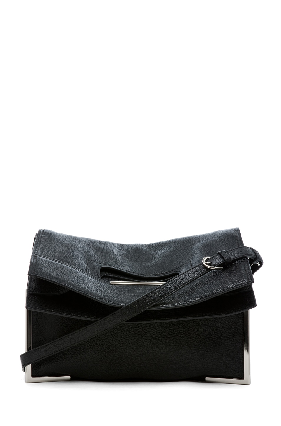Image 1 of 3.1 phillip lim Lux Grain Convertible Cut Out Handle Tote in Black