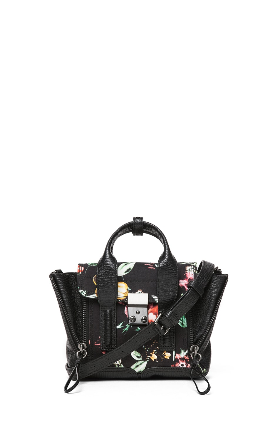 Image 1 of 3.1 phillip lim Mini Pashli Satchel Printed Canvas in Faded Botanical