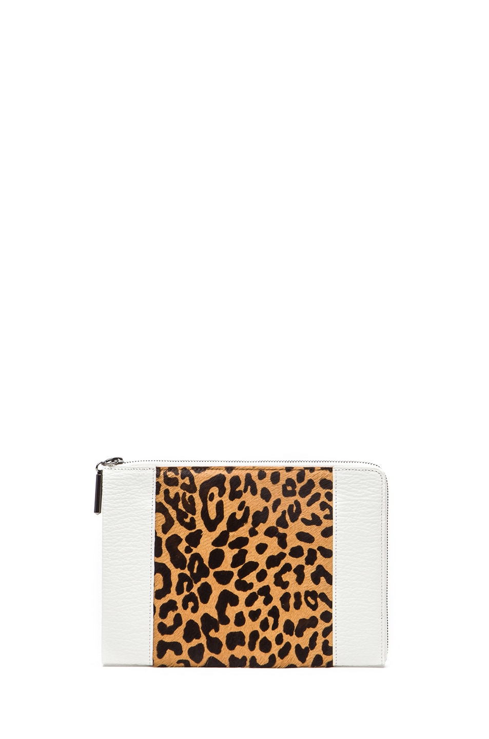 Image 1 of 3.1 phillip lim Flat Zip in Natural Leopard