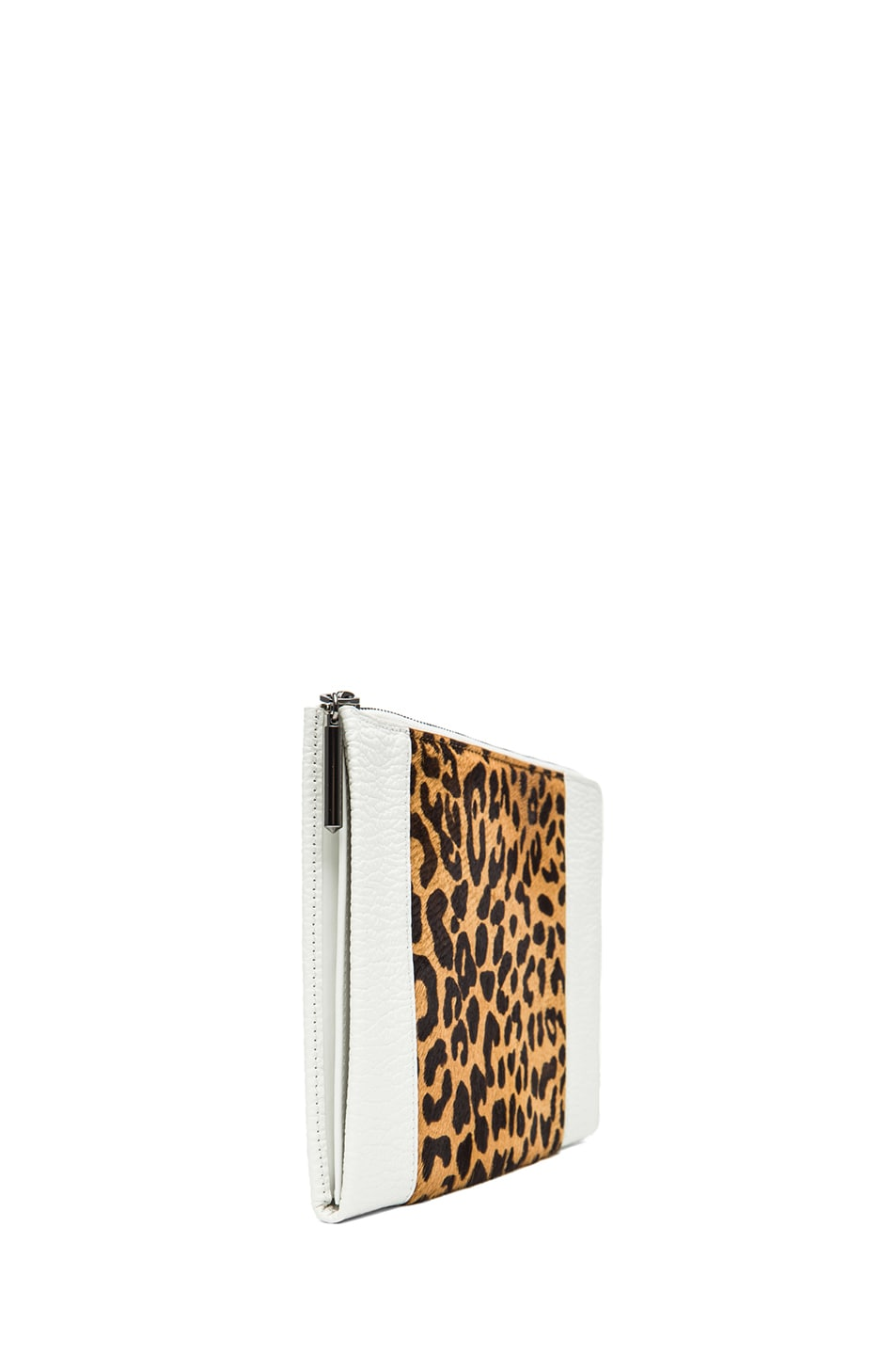 Image 3 of 3.1 phillip lim Flat Zip in Natural Leopard