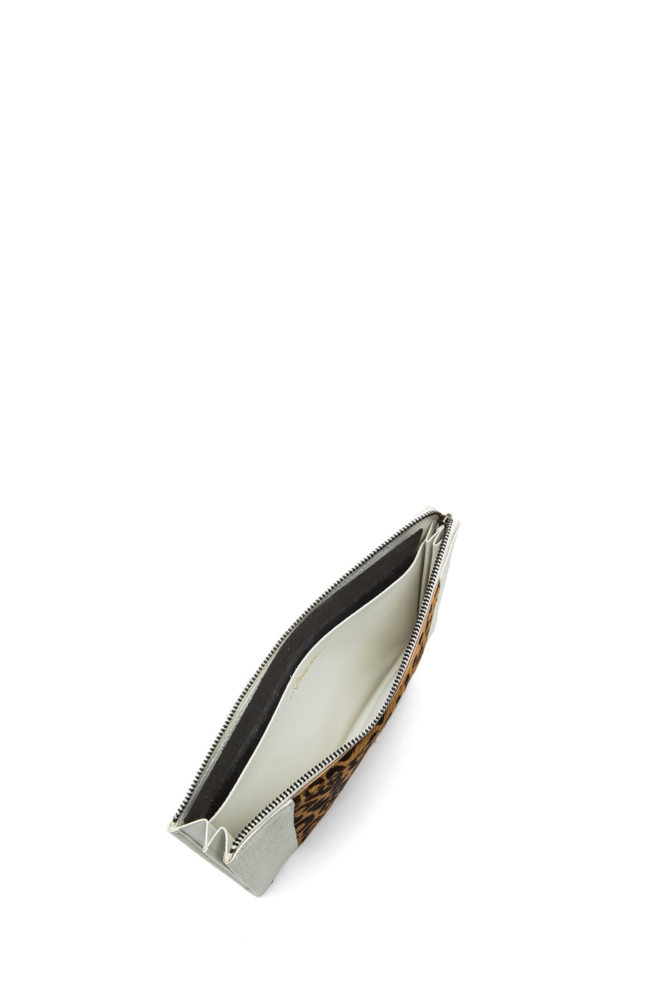 Image 4 of 3.1 phillip lim Flat Zip in Natural Leopard