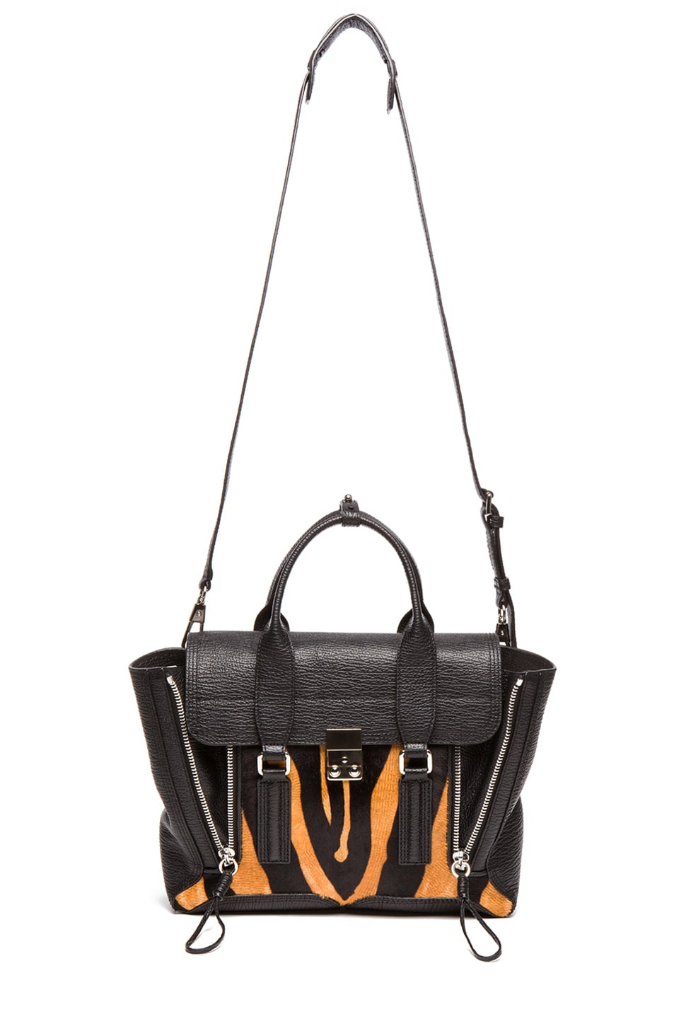 Image 5 of 3.1 phillip lim Medium Pashli Trapeze in Natural & Black