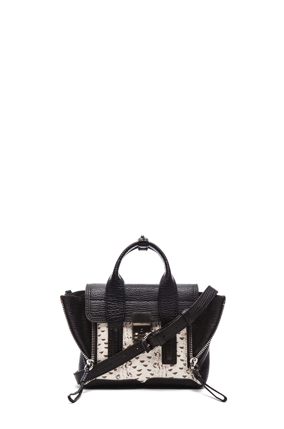 Image 1 of 3.1 phillip lim EXCLUSIVE Mini Pashli Satchel in White & Black