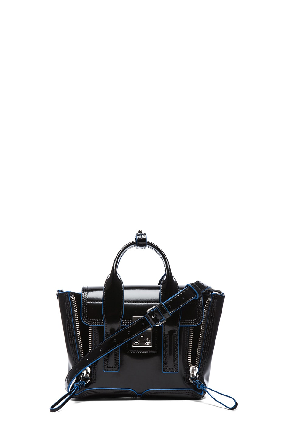 Image 1 of 3.1 phillip lim Mini Pashli Satchel in Black & Dark Navy