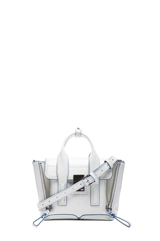 Image 1 of 3.1 phillip lim Mini Pashli Satchel in Optic White & Dark Navy