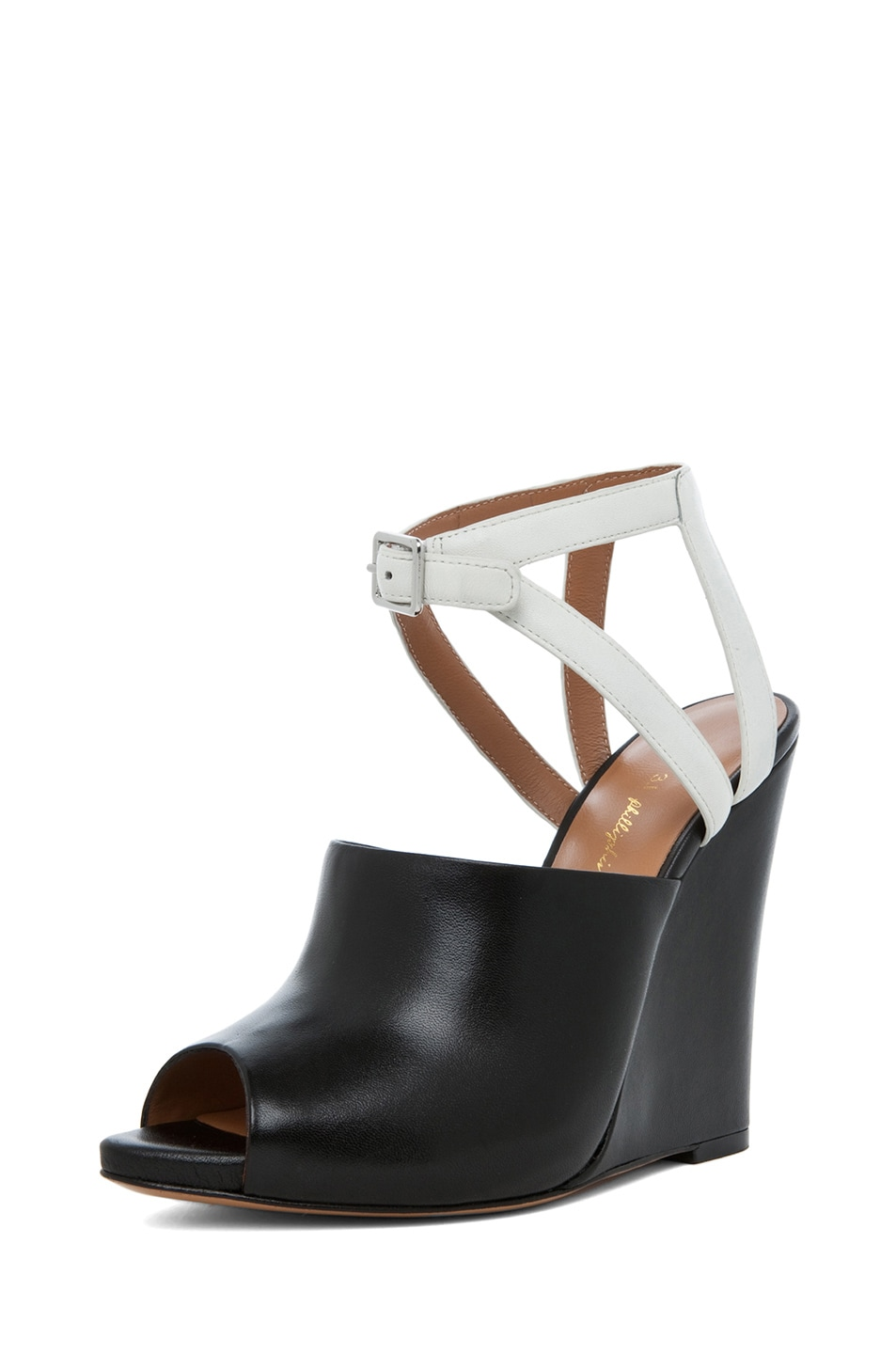 Image 2 of 3.1 phillip lim Juliette Leather Wedge in Black & White