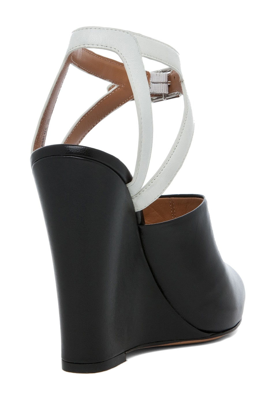 Image 3 of 3.1 phillip lim Juliette Leather Wedge in Black & White