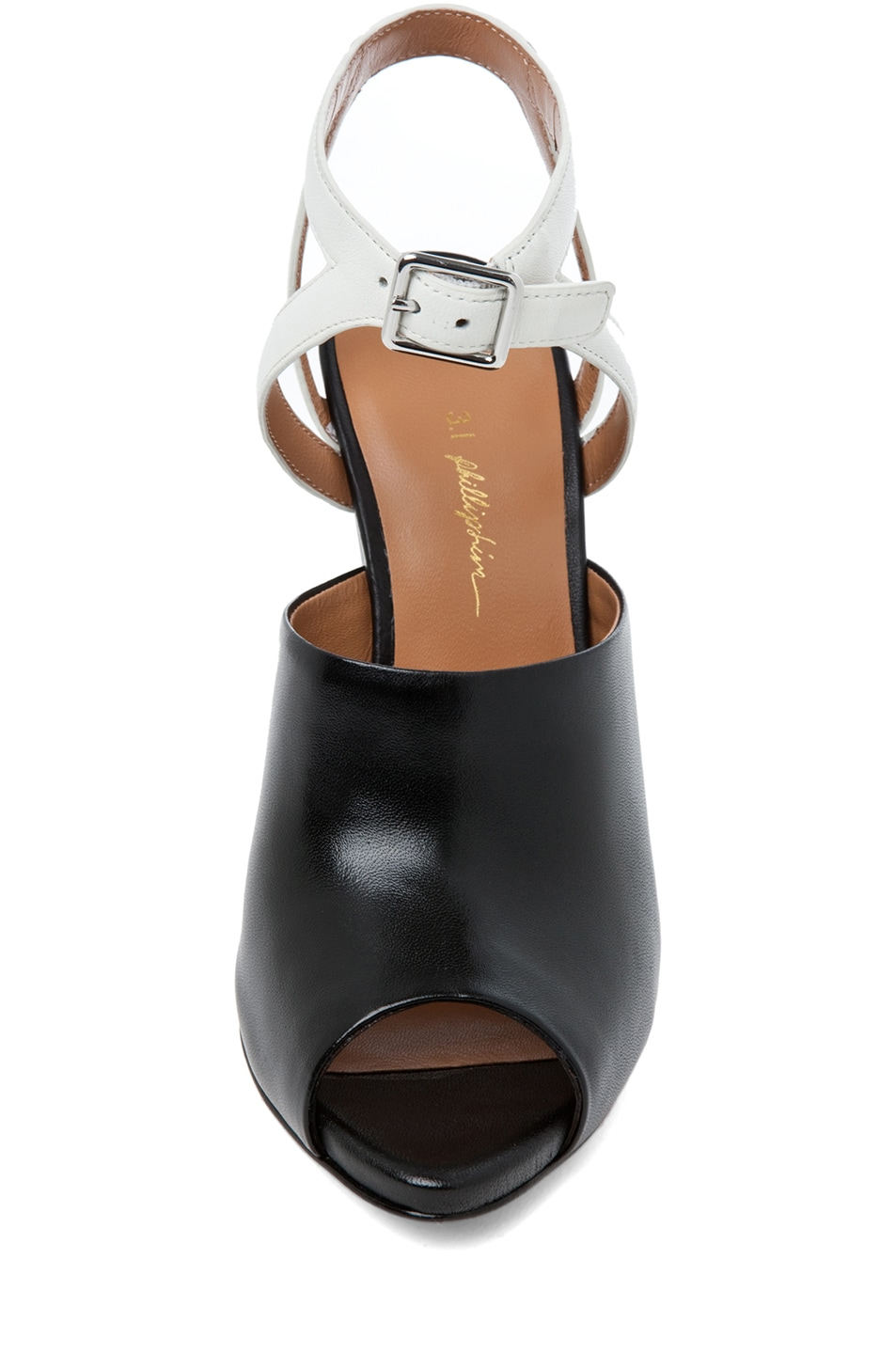 Image 4 of 3.1 phillip lim Juliette Leather Wedge in Black & White