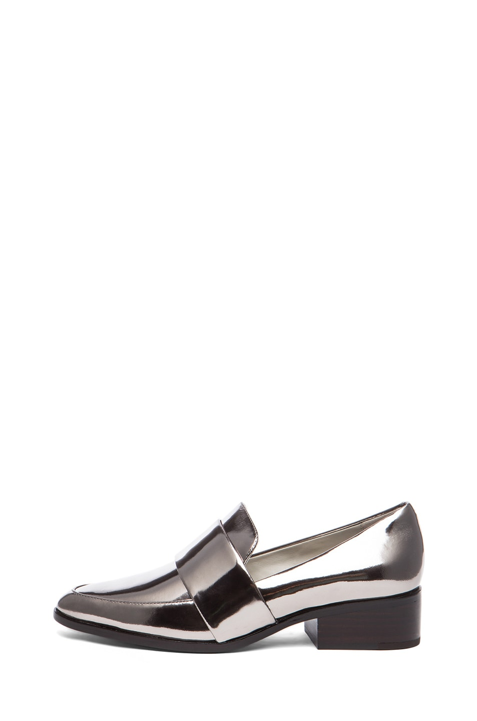 Image 1 of 3.1 phillip lim Quinn Metallic Leather Loafers in Gunmetal