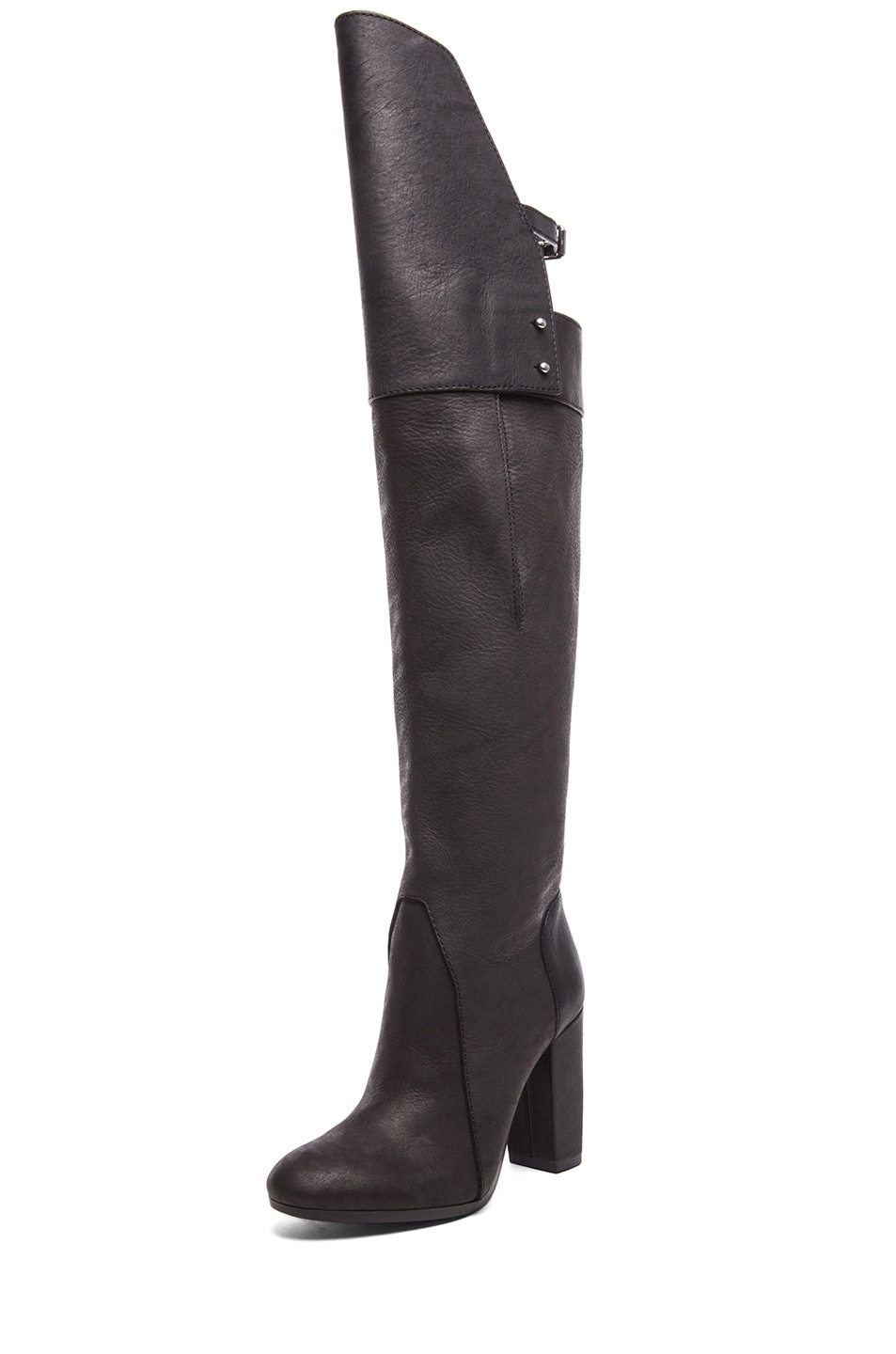 Image 1 of 3.1 phillip lim Ora Leather Over the Knee Boots in Black