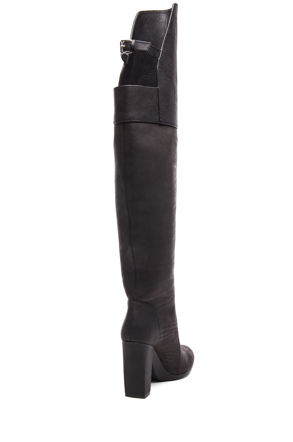 Image 3 of 3.1 phillip lim Ora Leather Over the Knee Boots in Black