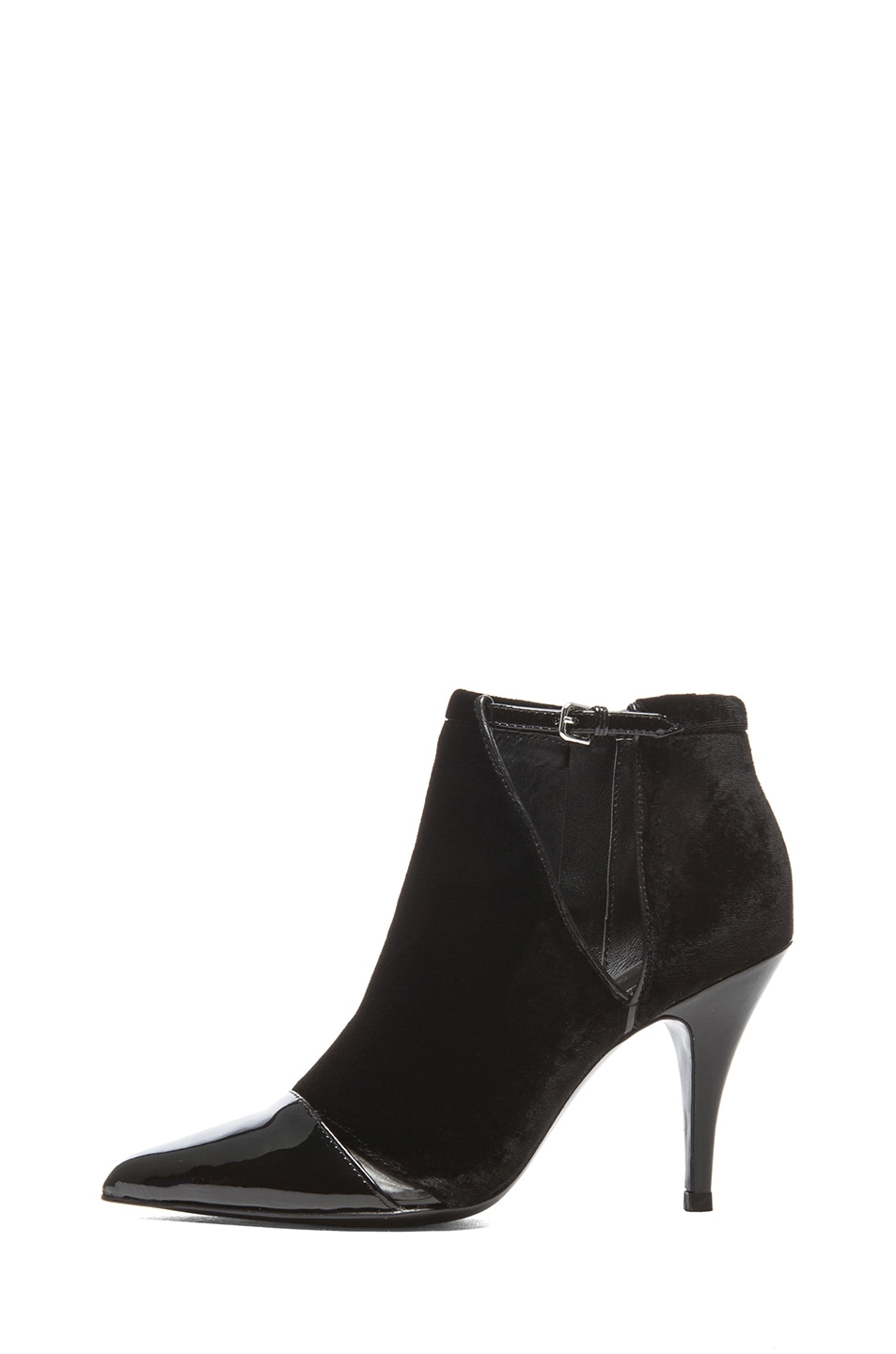 Image 1 of 3.1 phillip lim Quill Velvet & Leather Booties in Black