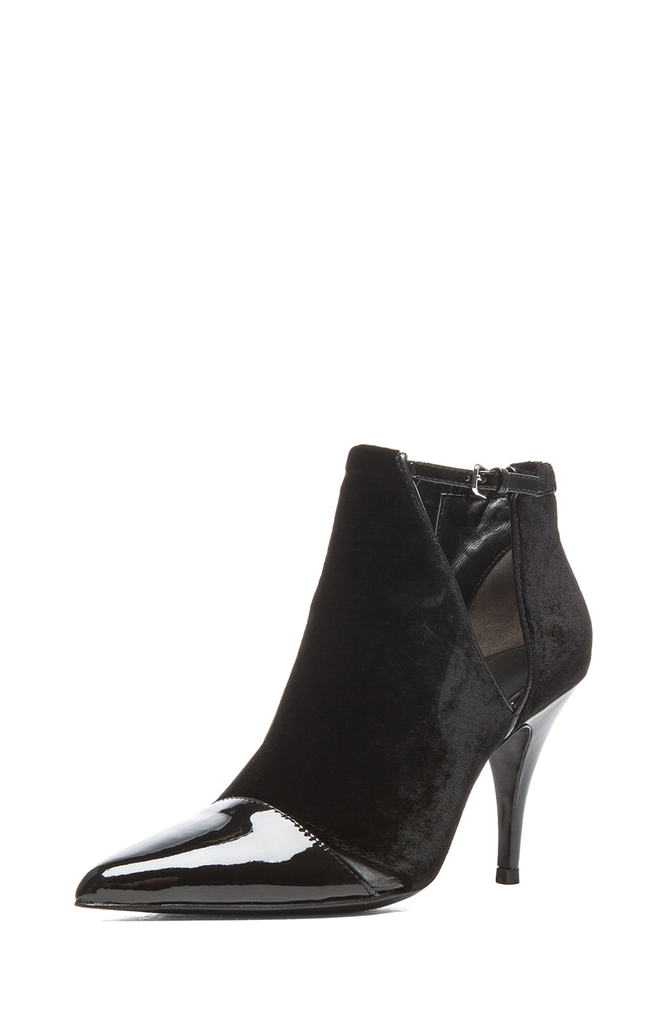 Image 2 of 3.1 phillip lim Quill Velvet & Leather Booties in Black
